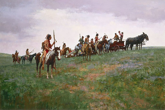 Howard Terpning Whiskey Smugglers Giclee On Paper Artist Proof