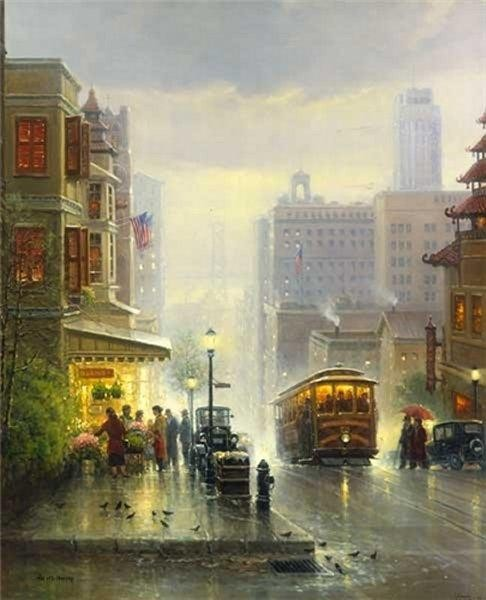 G HarveyCity by the Bay - San FranciscoLithograph