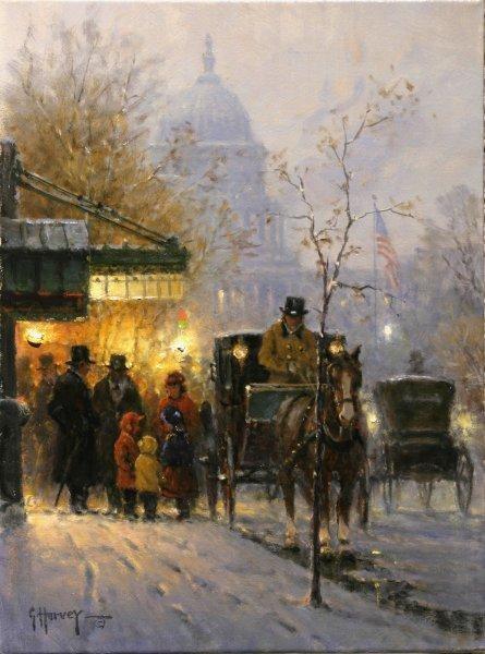 G HarveyChildren - A Familys Treasure Artist ProofGiclee On Canvas