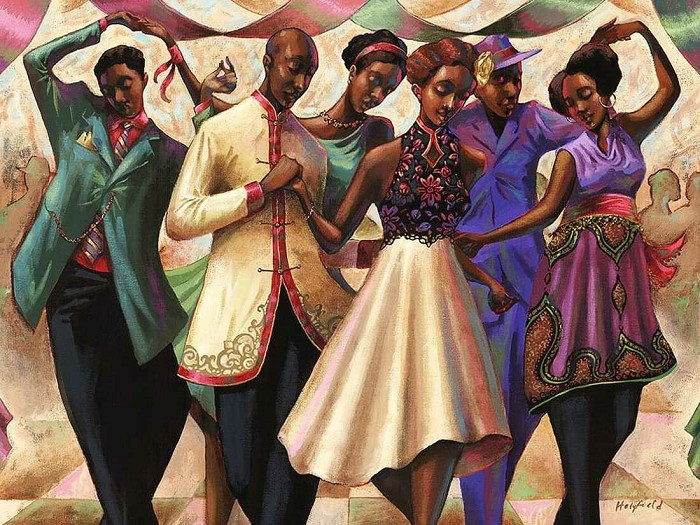 John Holyfield Steppers Delight Giclee On Canvas