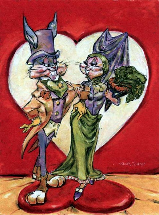 Chuck Jones Love Is In The Hare Giclee On Canvas