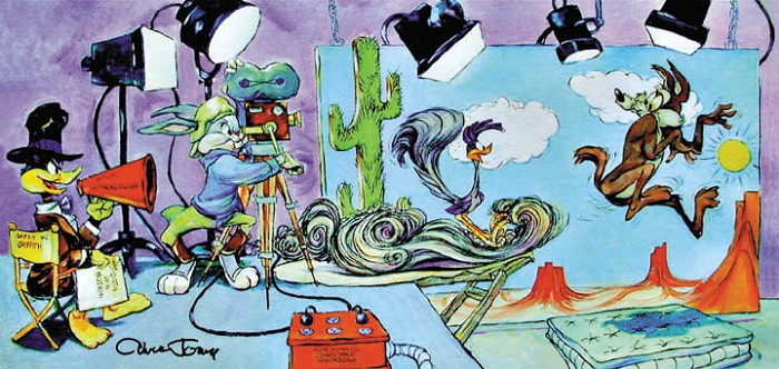 Chuck Jones Lights, Camera, Action Giclee On Canvas