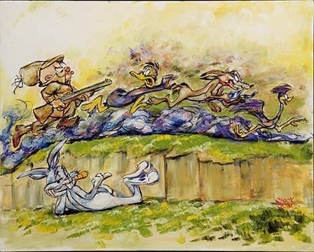 Chuck JonesThe Great ChaseGiclee On Canvas