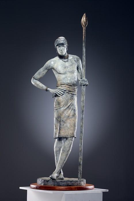 George NockSAMBURU WARRIORBronze Sculpture