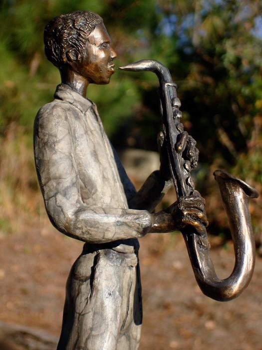 George NockSAXOPHONISTBronze Sculpture
