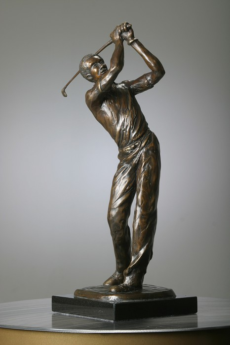 George Nock Tee Shot Bronze Sculpture