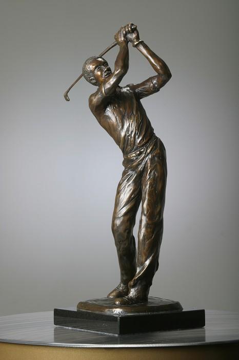 George NockTee ShotBronze Sculpture