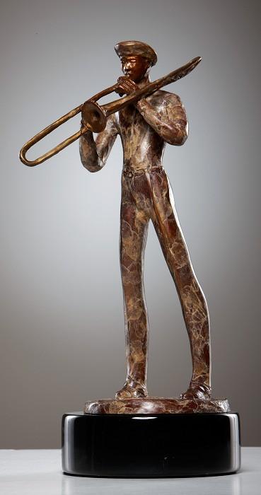 George NockTROMBONISTBronze Sculpture