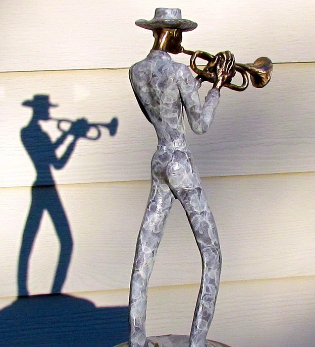 George Nock TRUMPETER Bronze Sculpture