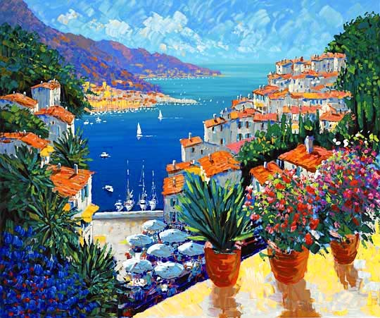 Kerry Hallam Sur La Port Canvas