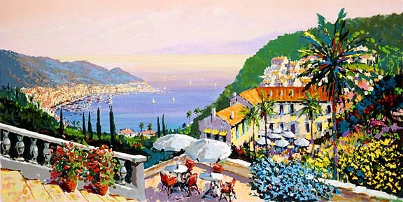 Kerry Hallam Crescent Bay Canvas