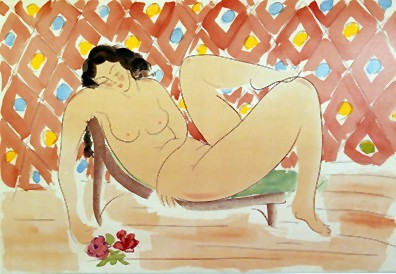Muramasa_Kudo Reclining With Roses