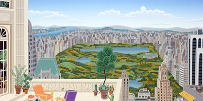 Thomas McKnight Central Park Panorama