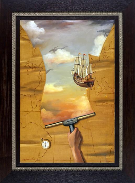 Glen TarnowskiBrave New World FramedGiclee On Canvas