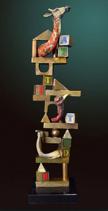 Glen TarnowskiBuilding BlocksBronze Sculpture