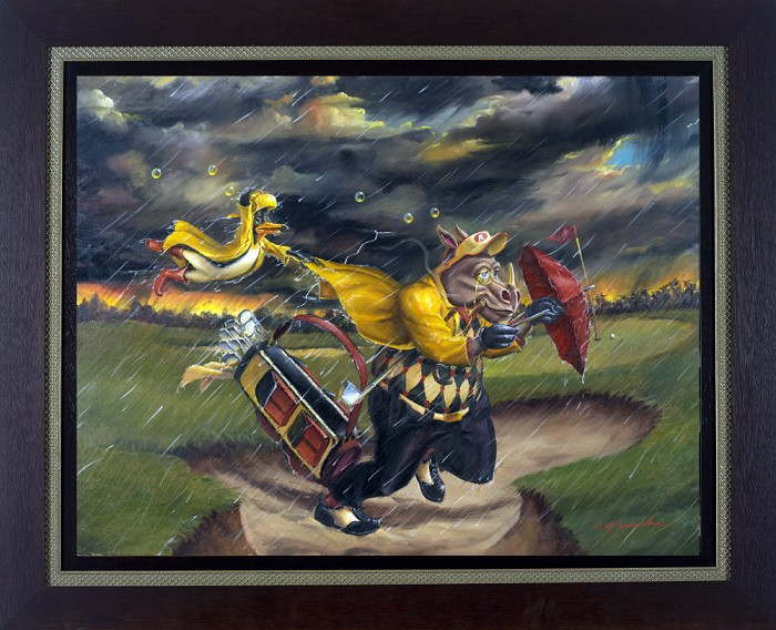 Glen Tarnowski Life Of Riley: Determination Framed Giclee On Canvas