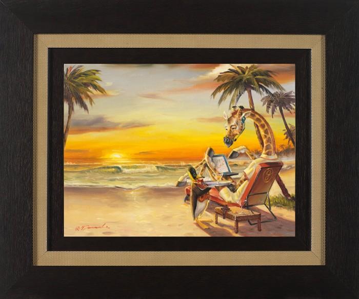 Glen TarnowskiOvertime FramedGiclee On Canvas