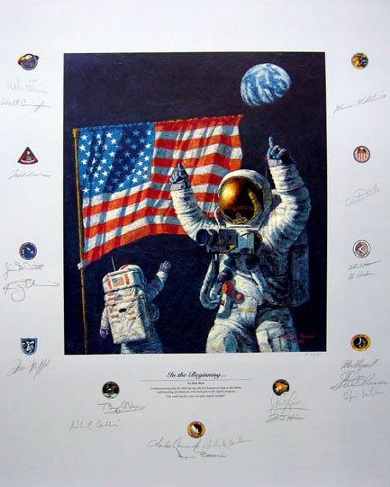 Alan Bean IN THE BEGINNING... Giclee On Paper