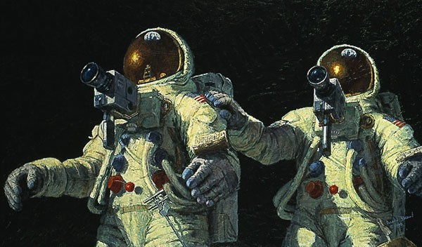 Alan Bean HEAVENLY REFLECTIONS Giclee On Paper
