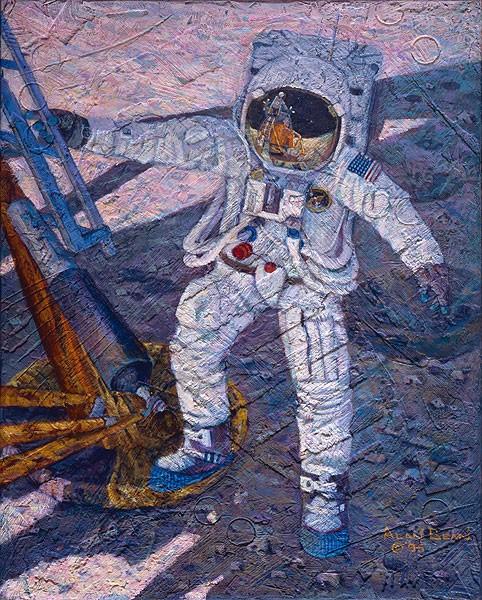 Alan BeanA Giant Leap SmallWork Canvas EditionGiclee On Canvas