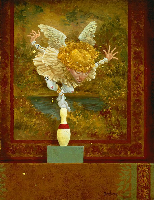 James Christensen How Many Angels Can Dance on the Head of a Pin Giclee On Canvas