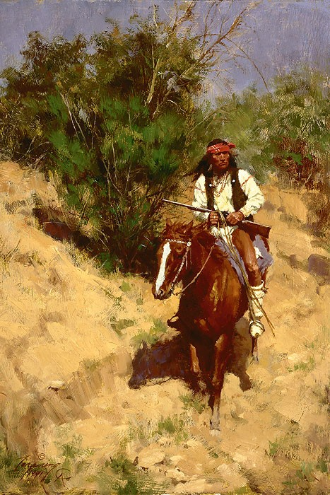 Howard TerpningAPACHE SCOUTGiclee On Canvas Artist Proof