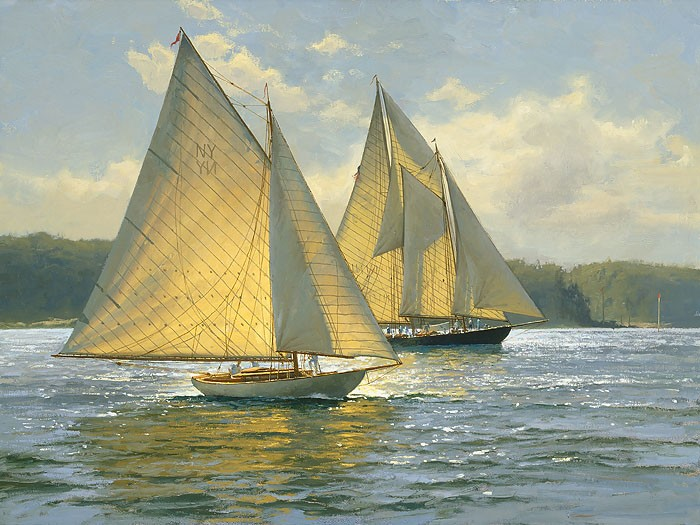 Don Demers Bay Light Giclee On Canvas
