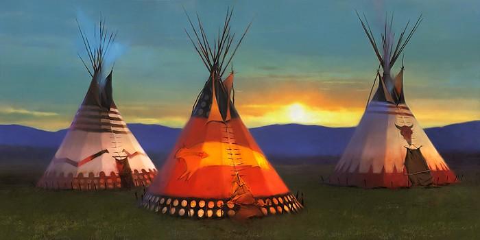 R. Tom GilleonBlackfeet CountryGiclee On Canvas