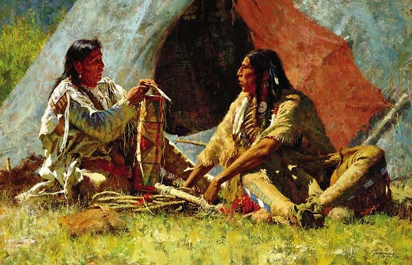 Howard Terpning THE BONNET CASE Giclee On Canvas Artist Proof