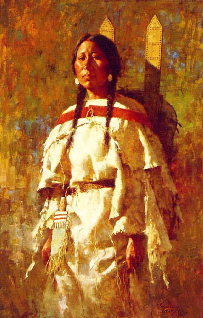 Howard Terpning CHEYENNE MOTHER Giclee On Canvas Artist Proof