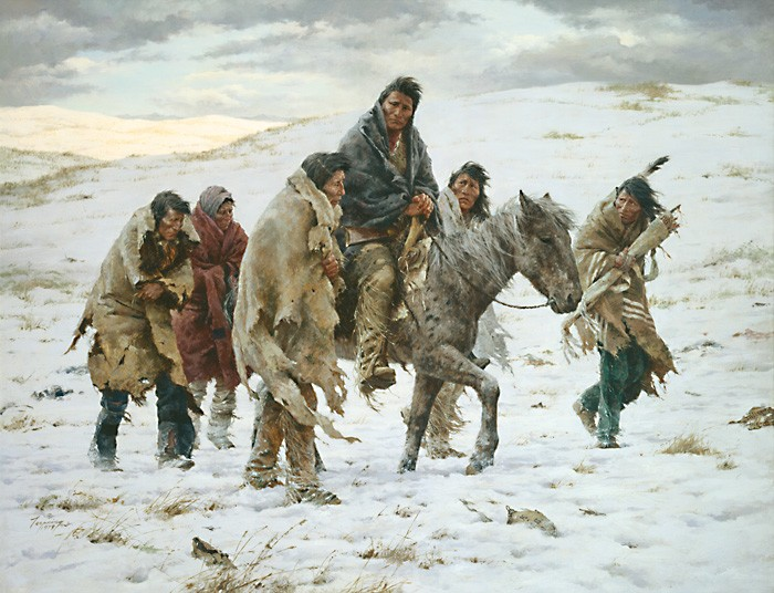 Howard Terpning CHIEF JOSEPH RIDES TO SURRENDER Giclee On Canvas Artist Proof