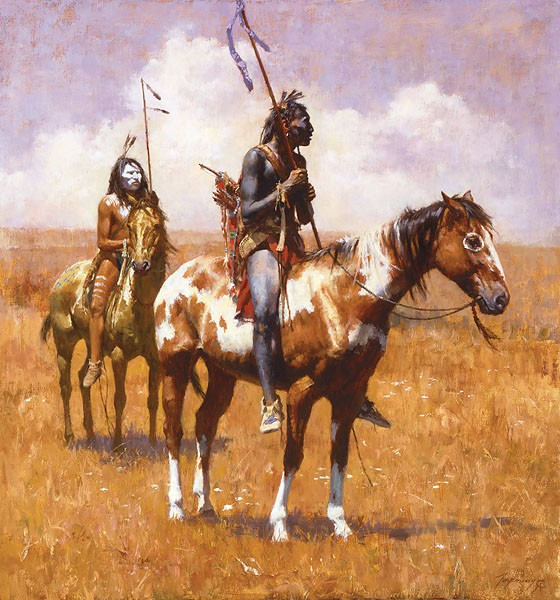 Howard TerpningCOUP STICKS AND WAR PAINTGiclee On Canvas