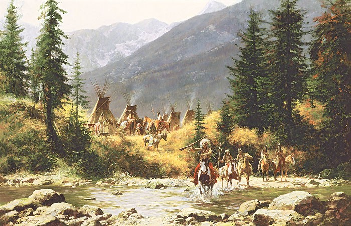 Howard Terpning CROW COUNTRY Giclee On Canvas Artist Proof