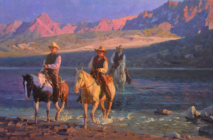 Mian Situ Twilight Crossing Giclee On Canvas