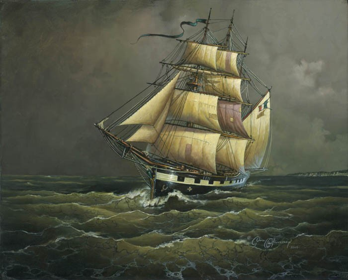 Dean MorriseyThe Crossing of the Ghost Ship Bonnie BowesGiclee On Canvas