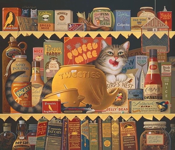 Charles Wysocki Ethel the Gourmet ANNIVERSARY EDITION Giclee On Canvas
