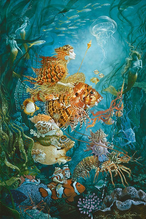 James Christensen Fantasies of the Sea Anniversay Edition Giclee On Canvas