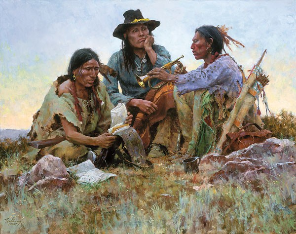 Howard Terpning FOUND ON THE FIELD OF BATTLE Giclee On Canvas Artist Proof