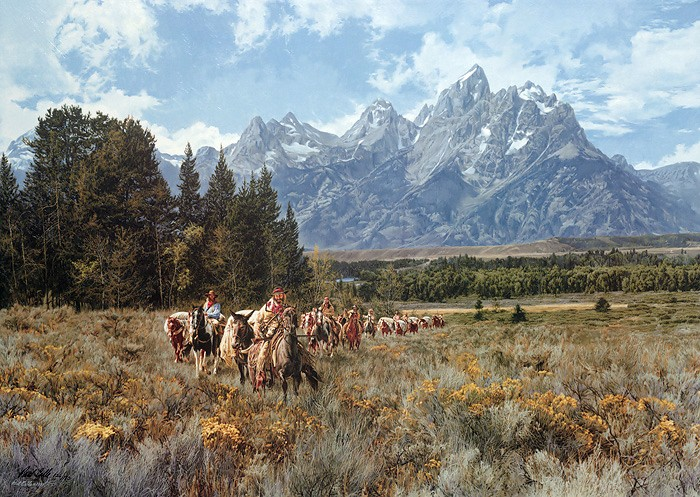 Paul Calle In the Valley of the Grand Tetons