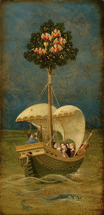 James ChristensenThe Holy Grail Travels to BritainGiclee On Canvas