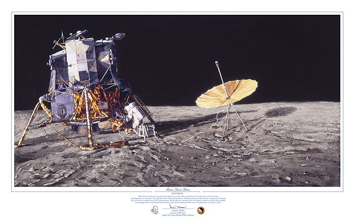 Alan Bean Home Sweet Home Lithograph