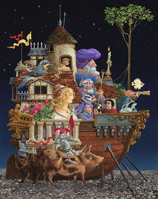 James Christensen Interrupted Voyage Giclee On Canvas
