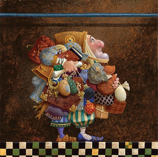 James Christensen Hold to the Rod, the Iron Rod Giclee On Canvas