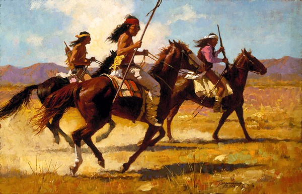 Howard Terpning LIGHT CAVALRY Giclee On Canvas Artist Proof