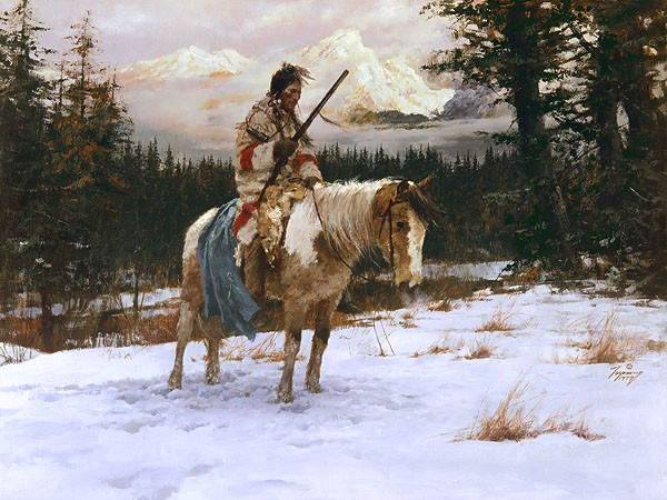 Howard TerpningLONELY SENTINELGiclee On Canvas Artist Proof