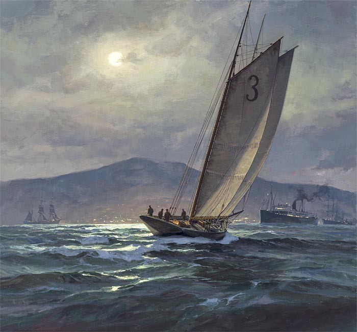 Don Demers Moon Wake Giclee On Canvas