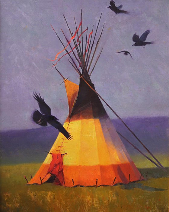 R. Tom Gilleon A Murder of Crows Giclee On Canvas