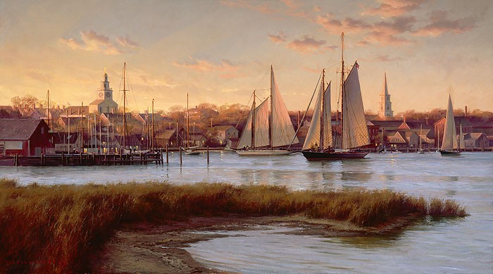 Don Demers Nantucket Twilight Giclee On Canvas