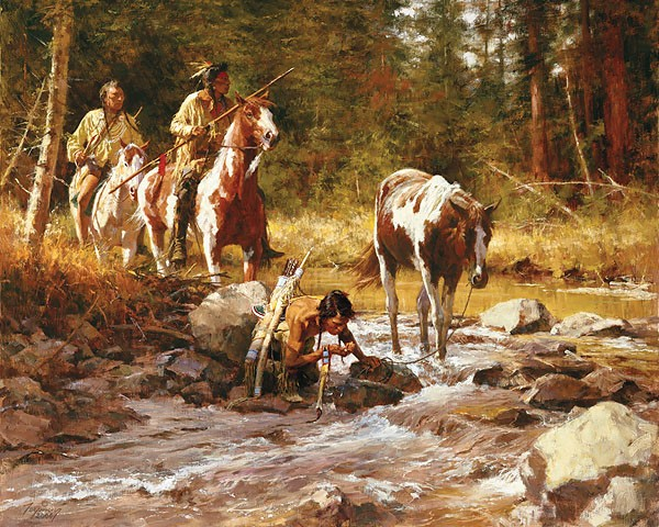 Howard Terpning NECTAR OF THE GODS Giclee On Canvas Artist Proof