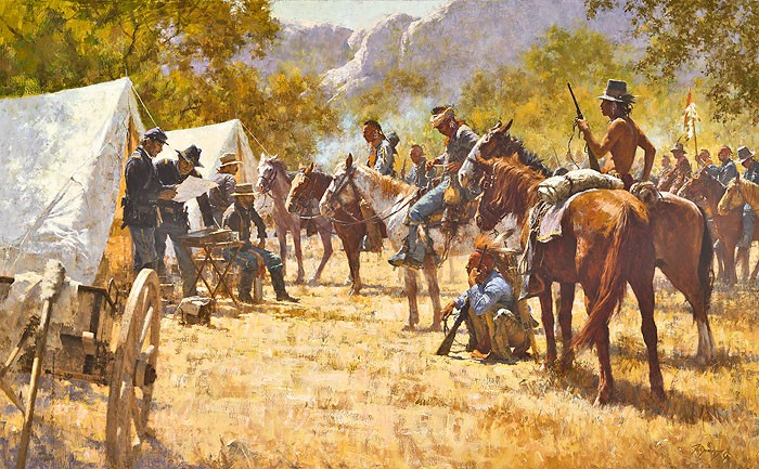 Howard Terpning Major North and the Pawnee Battalion Giclee On Canvas Artist Proof